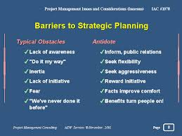 Discuss on Identifying Barriers to Planning