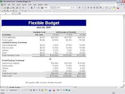 Define and Discuss on Flexible Budgets