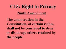 Discuss on the Right to Privacy