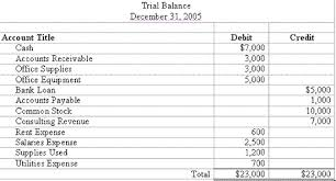 Discuss and Analysis on the Trial Balance