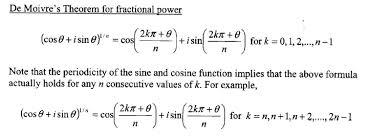 Discuss on De Moivre's Theorem