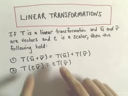 Define and Discuss on Linear Transformations