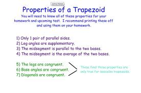 Discuss on Properties of Trapezoids