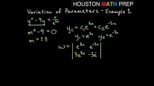 Discuss on Variation of Parameters