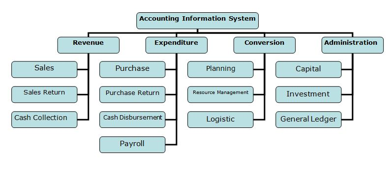 Accounting Information Systems flow chart