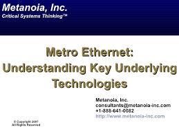 Metro Ethernet Fundamentals