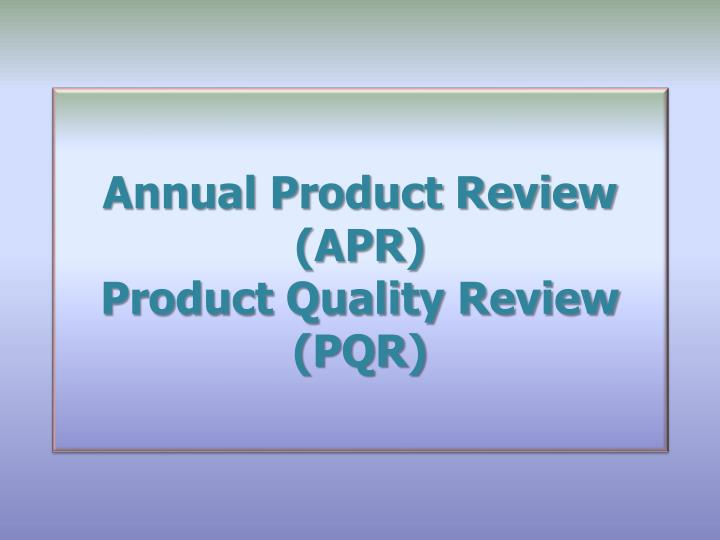 Define Annual Product Review