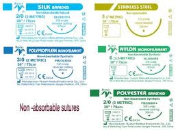 Various Types Absorbable Sutures