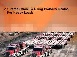 Using Platform Scales For Heavy Loads