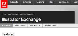 Adobe Illustrator Exchange