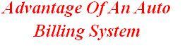 Advantage Of An Auto Billing System