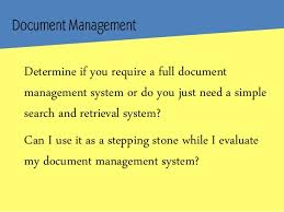 Introduction to Document Management