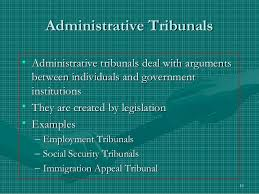 Establishment of Administrative Tribunals
