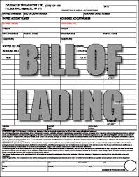 Bill of Lading and Charter Party