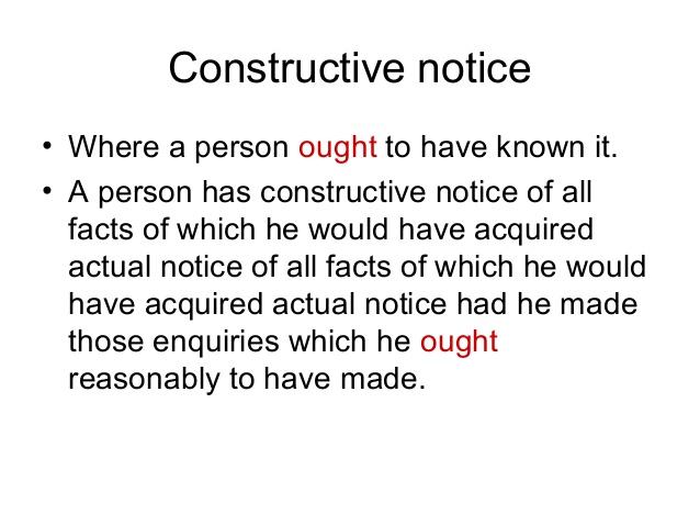 Constructive Notice
