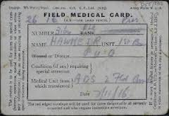 Field Medical Card