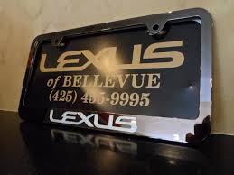 Lexus License Plate Frames Importance in the Advertising