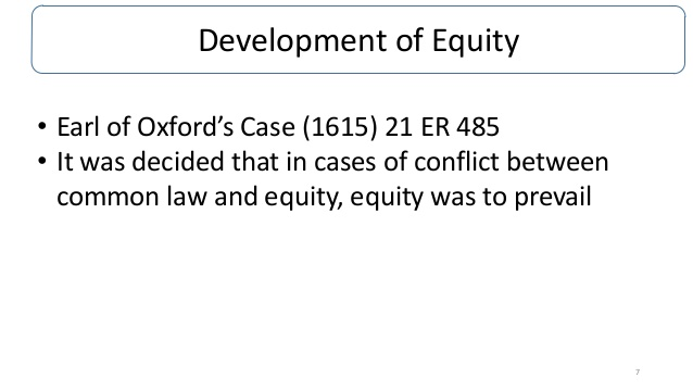 Development of Equity
