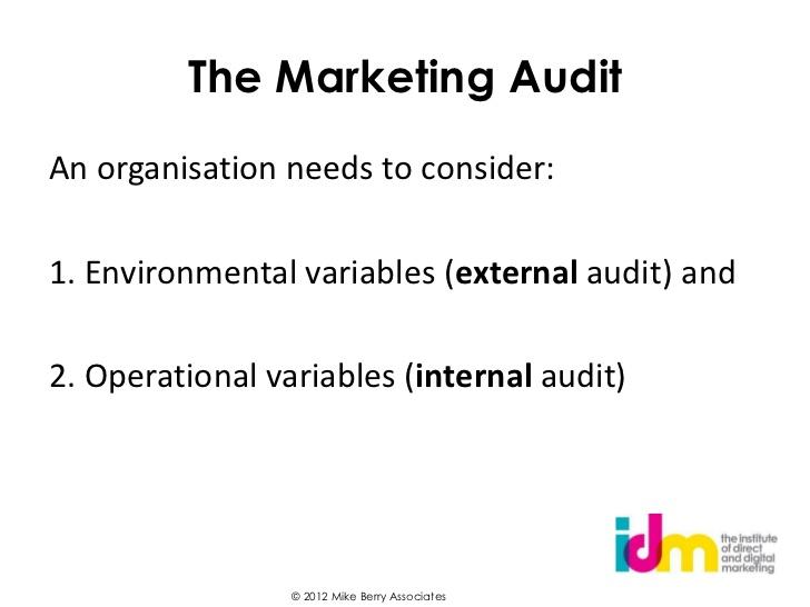 Marketing Audit Internal