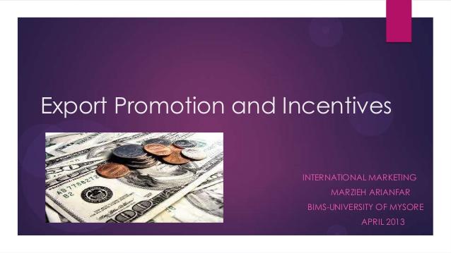 Export Incentives