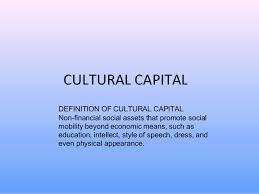 Social Cultural Capital