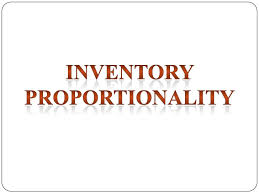 Principle of Inventory Proportionality