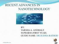 Advances in Nanotechnology
