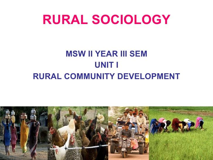 Rural Sociology Definition