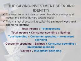 Savings Identity