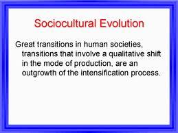 Socio Cultural Evolution