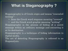 About Steganography