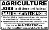 Career in Agriculture Jobs