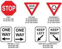 Use Traffic Regulatory Signs