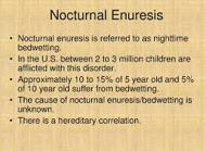 Diurnal Enuresis