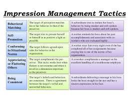 Impression Management Assignment Point
