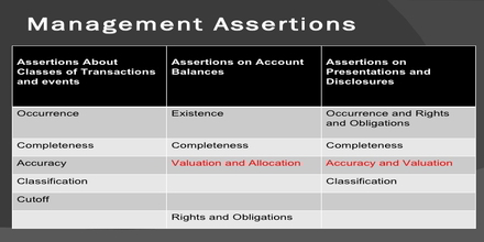 Management Assertions