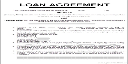 Loan Agreement Assignment Point – Business Loan Agreement