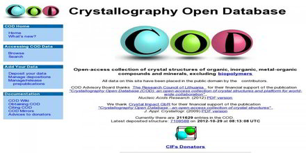 Crystallographic Database