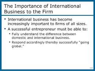 Importance of International Business