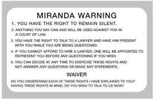 About Miranda Warning