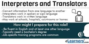 Role of Translators and Interpreters
