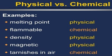 Physical Properties vs Chemical Properties