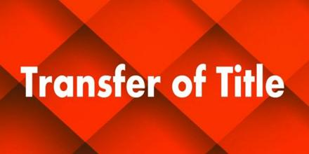 Transfer of Title