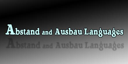 Abstand and Ausbau Languages