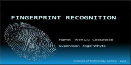 fingerprint recognition thesis Kamlesh tiwari , some efficient techniques to improve fingerprint based recognition system thesis supervision m tech: 103 ph d : 17 publications 2017.