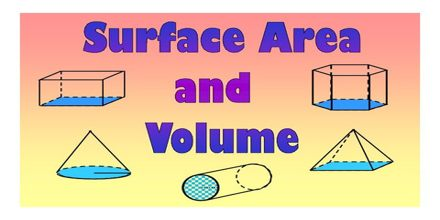 Lecture on Surface Area and Volume