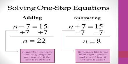 Solving Equations by Adding and Subtracting