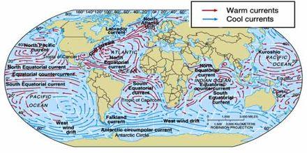 Wind Direction of Ocean