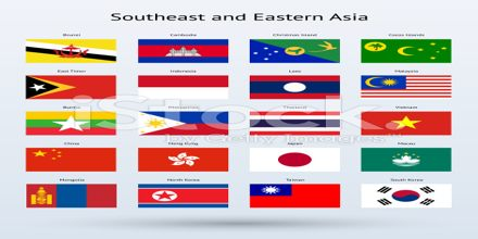 Flags of South and Southeast Asia
