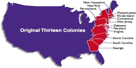 The Thirteen Original English Colonies